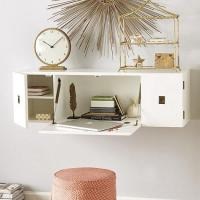 Caf White Wall Mounted Desk