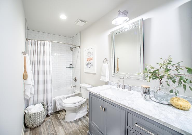 Transitional  Bathroom  Benjamin Moore Classic Gray