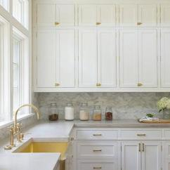 Brass Kitchen Hardware Ikea Countertops Cabinet Design Ideas Apron Sink With Gooseneck Faucet
