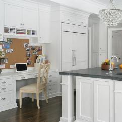 Kitchen Desk Ikea Island Built In Under Cork Pin Board Transitional
