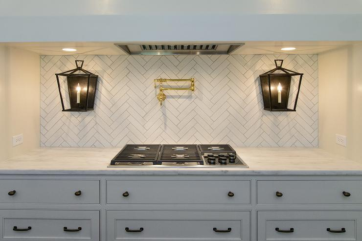 oil rubbed bronze kitchen faucet cabinet design template white with gray island and farmhouse sink ...