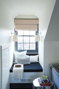 Dormer Window with Window Seat Nook - Transitional - Bedroom