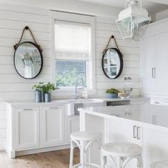 Kitchen Mirrors Used Equipment For Sale Oval Rope Design Ideas White Cottage With