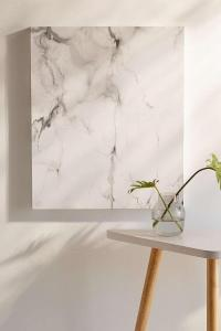 White and Gray Marble Canvas Wall Art