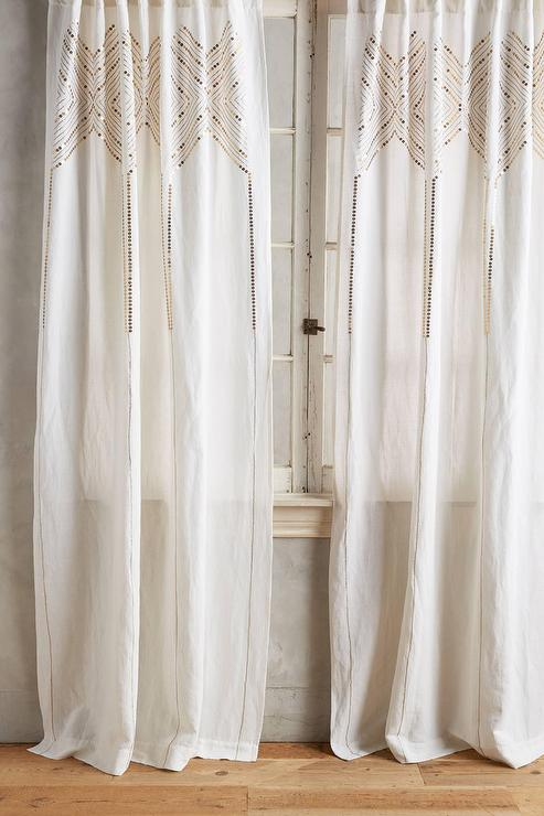 Gleaming Elora Curtain in Gold