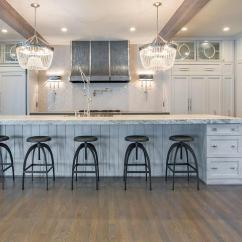 Black Kitchen Cabinet Pulls Cost For Remodeling Gray Center Island With Vapor Counter Stools ...