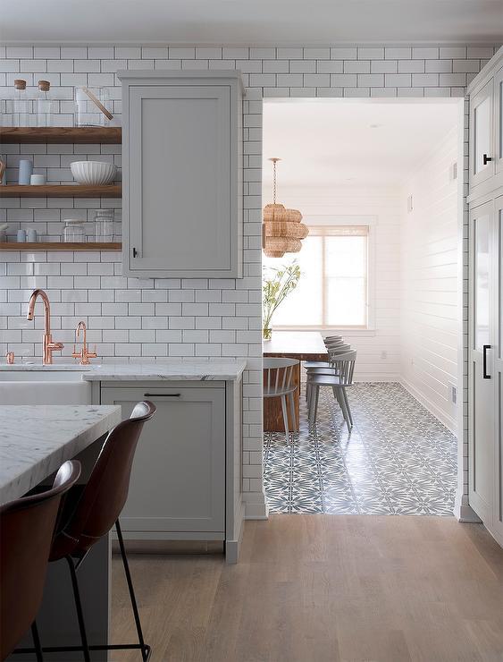 dark tile with light grout design ideas