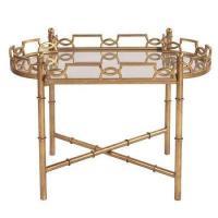 Tessa Mirrored Tray Table - Pottery Barn
