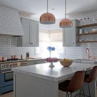 Light Gray Kitchen with Gray Wash Wood Floors ...