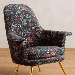 Floral Upholstered Chair Dining Chairs Set Of 4 Target Multicolor Printed Brass Legs