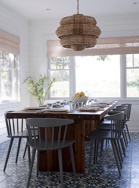 modern gray dining chairs antique wooden cane seat wood table with windsor