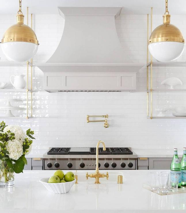 marble and brass wall shelves