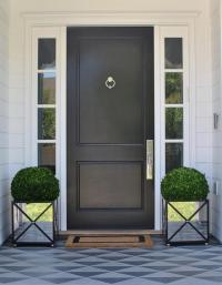 Black Front Door Design Ideas