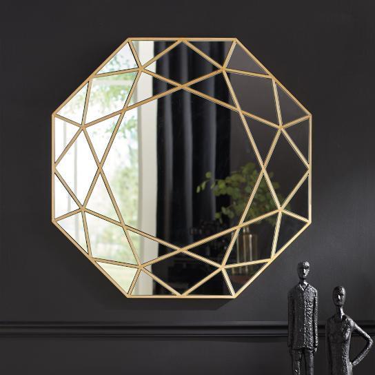 Sun Ray Antique Gold Mirror