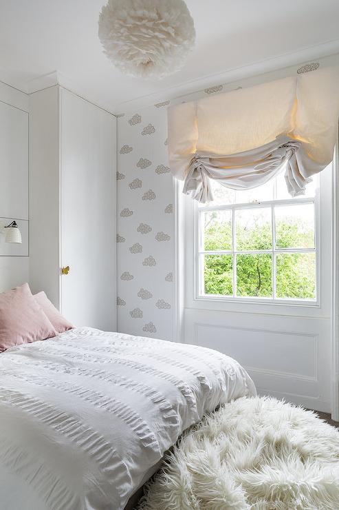 Blue and Gray Girl Room with Pink Accents  Contemporary