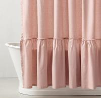 Ruffle Shower Curtain Pink | Curtain Menzilperde.Net