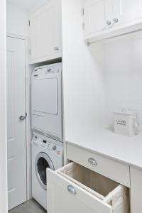 Pull out Drying Rack Drawer and Tilt Out Hamper Cabinet ...