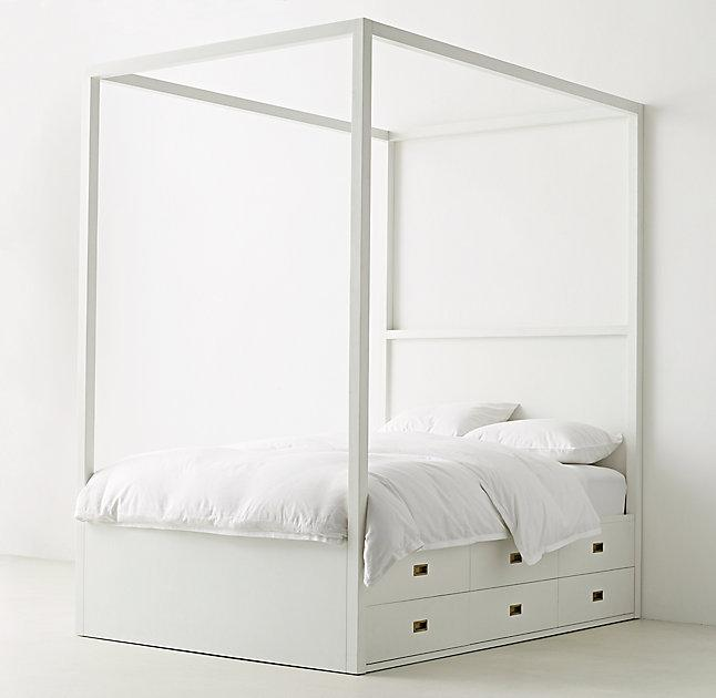 Ellipse Metal Canopy Bed  west elm