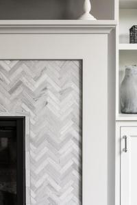 Herringbone Tile Fireplace | Tile Design Ideas