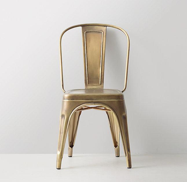 steel chair gold sleek dining room chairs vintage desk