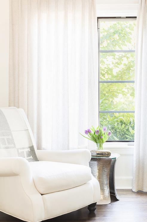 bedroom chair with blanket fisher price alyssa rosenheck white velvet roll arm gray hermes throw