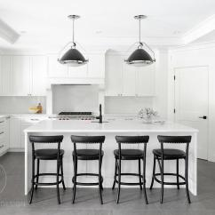 Oil Rubbed Bronze Kitchen Island Lighting Backyard Ideas White And Black With Corner Pantry - Transitional ...