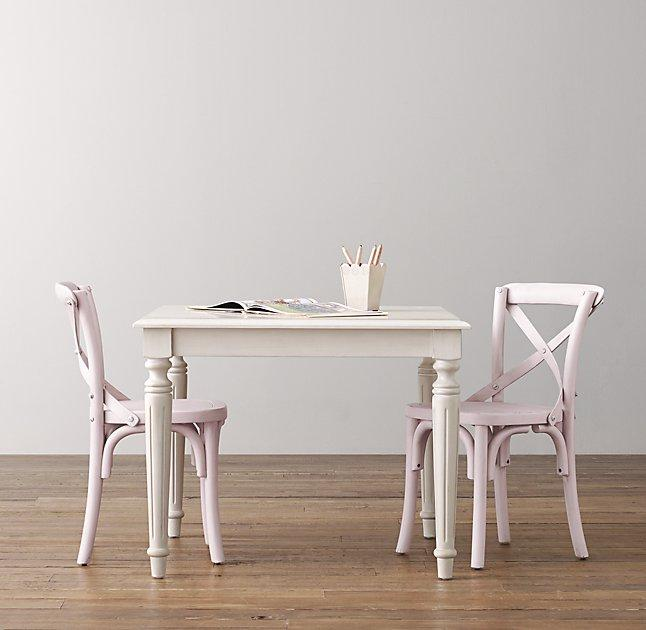 Hudson Trestle Table and Chairs  Pottery Barn Kids