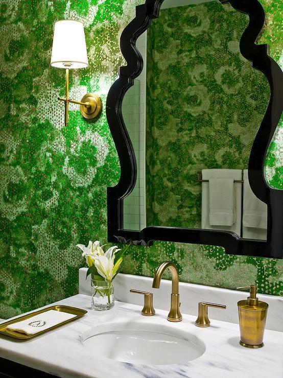 Black And Gold Bathroom Vanity Design Ideas
