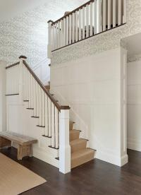 Staircase Wall Wainscoting Design Ideas