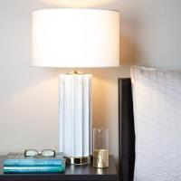 Safavieh Colleen White Faux Marble Table Lamp
