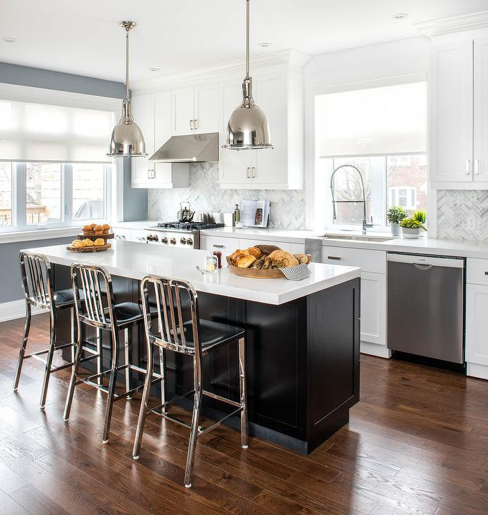 polished nickel kitchen faucet light ideas and marble french island with brass trim ...