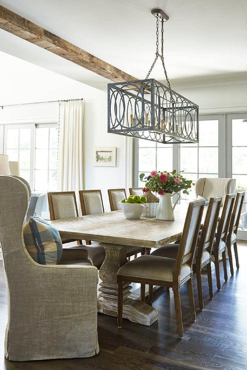 gray rattan dining chairs living room chaise lounge sunroom kitchen - cottage deck/patio rice construction group