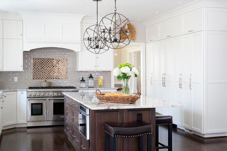 distressed wood kitchen cabinets narrow base cabinet gold and brown granite countertops design ideas