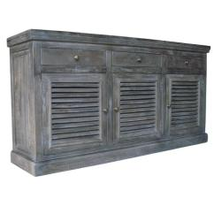 Distressed Dining Chairs Tilt Back Chair Double Door Gray Sideboard