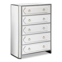Tall Chic Mirrored Chest