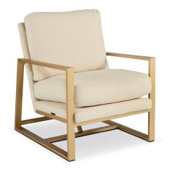 Ivory Leather Office Chair Or Stool For Bathroom Sleek Brass Plated - Products, Bookmarks, Design, Inspiration And Ideas.