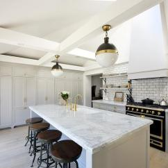 Grey Kitchen Cabinets Essentials Calphalon White And Gray With Black French Stove ...
