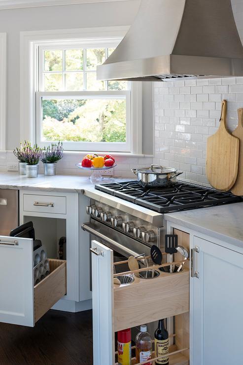 stainless steel kitchen pendant light premade island white macauba countertops - transitional