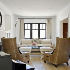 Black Paint For Leather Sofa And White Ideas Caramel Wingback Chairs With Nailhead Stools ...