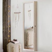 Heirloom Wood Full Length Jewelry Wall Mirror