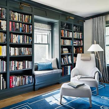 Pink and Blue Home Library  Contemporary  Denlibraryoffice