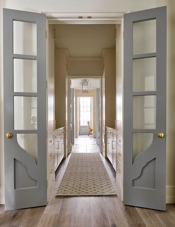 White Walls Gray Doors Design Ideas