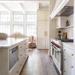 Off White Kitchen Cabinets Best Appliance Brands With Plank Drawers Transitional