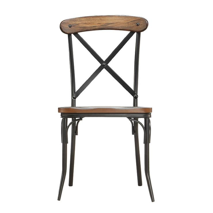 black cross back dining chairs ergonomic chair under 400 nelson industrial rustic