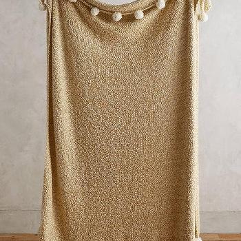 Nate Berkus Woven Knit Gold Throw at HSNcom