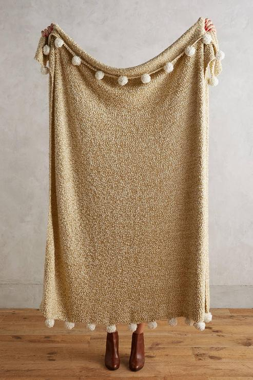 Nate Berkus Woven Knit Gold Throw at HSNcom
