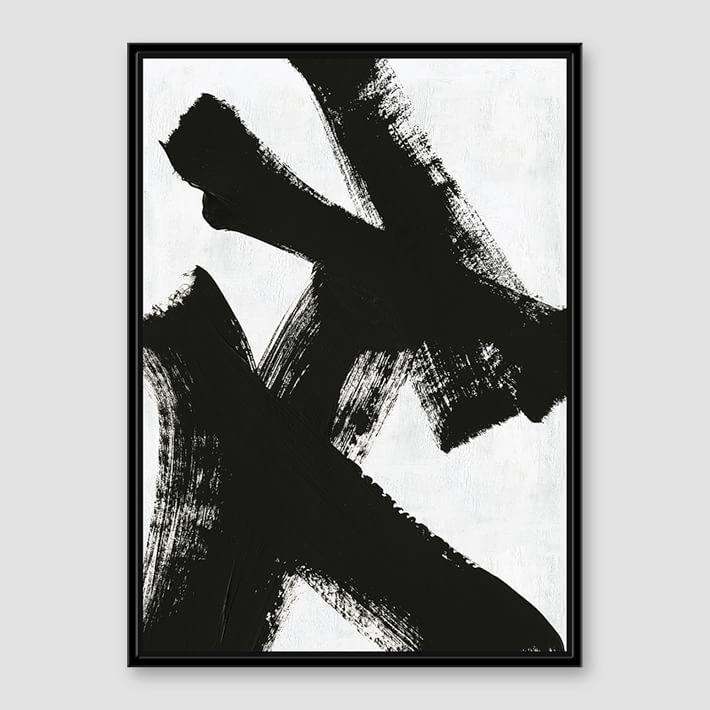 black white brush stroke