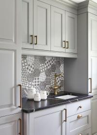 Gray And White Kitchen Cabinet Knobs