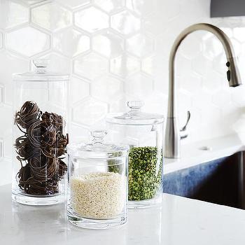 honeycomb kitchen backsplash tiles