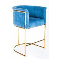 Dark Blue Velvet Accent Chair Yoga Exercises For Seniors Erin Gold Grey Bar Set